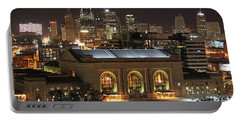 Union Station At Night Portable Battery Charger