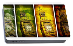 United Colors Of Big Ben Portable Battery Charger by Stephen Stookey