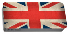 United Kingdom Union Jack England Britain Flag Vintage Distressed Finish Portable Battery Charger