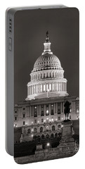 United States Capitol At Night Portable Battery Charger
