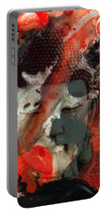 Universal Qi - Zen Black And Red Art Portable Battery Charger