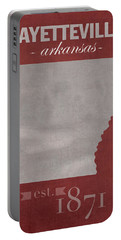 University Of Arkansas Razorbacks Fayetteville College Town State Map Poster Series No 013 Portable Battery Charger