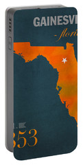 University Of Florida Gators Gainesville College Town Florida State Map Poster Series No 003 Portable Battery Charger by Design Turnpike