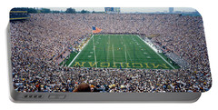 University Of Michigan Football Game Portable Battery Charger by Panoramic Images