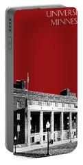 University Of Minnesota - Coffman Union - Dark Red Portable Battery Charger