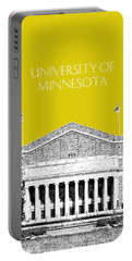 University Of Minnesota 2 - Northrop Auditorium - Mustard Yellow Portable Battery Charger