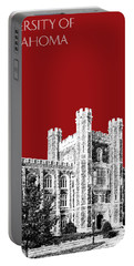 University Of Oklahoma - Dark Red Portable Battery Charger