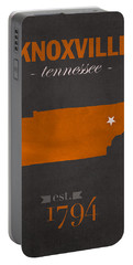 University Of Tennessee Volunteers Knoxville College Town State Map Poster Series No 104 Portable Battery Charger