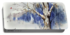 Untitled Winter Tree Portable Battery Charger