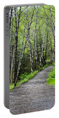 Portable Battery Charger featuring the photograph Up The Trail by Cathy Mahnke