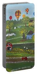 Portable Battery Charger featuring the painting Up Up And Away by Virginia Coyle