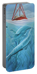 Portable Battery Charger featuring the painting Uphoria by Dianna Lewis