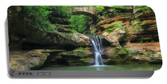 D10a-113 Upper Falls At Old Mans Cave Hocking Hills Photo Portable Battery Charger