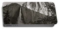 Upper Yosemite Falls Composition In Triangles Portable Battery Charger