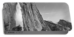 Upper Yosemite Fall With Half Dome Portable Battery Charger