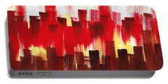 Portable Battery Charger featuring the painting Urban Abstract Evening Lights by Irina Sztukowski
