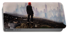 Portable Battery Charger featuring the digital art Urban Human by Galen Valle