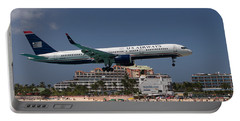 U S Airways At St Maarten Portable Battery Charger