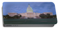 Us Capitol Building At Dusk, Washington Portable Battery Charger by Panoramic Images