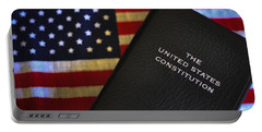 United States Constitution And Flag Portable Battery Charger