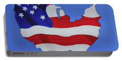Us Flag Portable Battery Charger