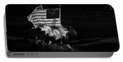 Portable Battery Charger featuring the photograph U.s. Flag Western by Ron White