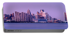 Usa, Michigan, Detroit, Twilight Portable Battery Charger