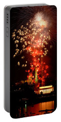 Usa, Washington Dc, Fireworks Portable Battery Charger