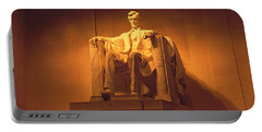 Usa, Washington Dc, Lincoln Memorial Portable Battery Charger by Panoramic Images