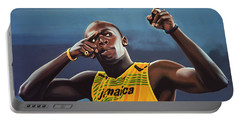 Usain Bolt Painting Portable Battery Charger