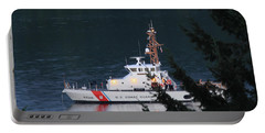 Portable Battery Charger featuring the photograph Uscgc Blue Shark by E Faithe Lester