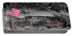 Portable Battery Charger featuring the photograph Usmc Veteran Headstone by Sherman Perry