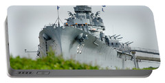 Portable Battery Charger featuring the photograph Uss Alabama 2 by Susan  McMenamin