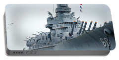 Portable Battery Charger featuring the photograph Uss Alabama 3 by Susan  McMenamin