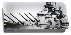Portable Battery Charger featuring the photograph Uss Alabama by Susan  McMenamin