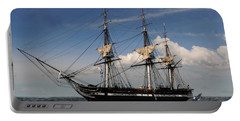 Uss Constitution - Featured In Comfortable Art Group Portable Battery Charger