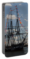 Portable Battery Charger featuring the photograph Uss Constitution by Mike Ste Marie