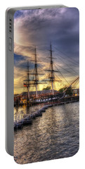 Uss Constitution Sunset - Boston Portable Battery Charger