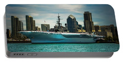Uss Midway Museum Cv 41 Aircraft Carrier Portable Battery Charger by Claudia Ellis