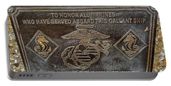 Portable Battery Charger featuring the photograph U.s.s. San Francisco Memorial Land's End by Bill Owen