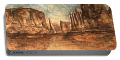 Utah Red Rocks - Landscape Art Painting Portable Battery Charger