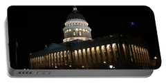 Portable Battery Charger featuring the photograph Utah State Capitol East by David Andersen
