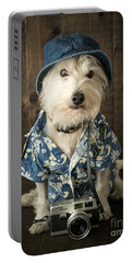 Vacation Dog Portable Battery Charger by Edward Fielding
