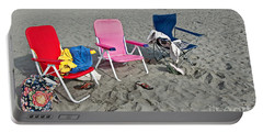 Portable Battery Charger featuring the photograph Vacation Time Beach Art Prints by Valerie Garner