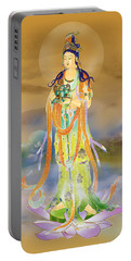 Portable Battery Charger featuring the photograph Vaidurya  Kuan Yin by Lanjee Chee