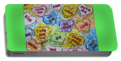 Valentine Candy Hearts Portable Battery Charger