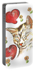 Valentine Cat Portable Battery Charger
