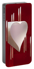 Valentine Paper Heart Portable Battery Charger