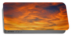 Portable Battery Charger featuring the photograph Valentine Sunset by Tammy Espino