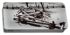Valley Forge Snow Portable Battery Charger by Michael Porchik